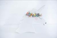 Fehér unikornis 40x23x3cm polc dekoráció
