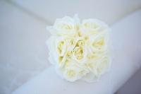 Fehér rózsaköteg 7 szálas 30 cm-es