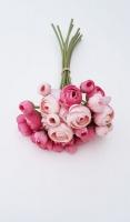 Pink rózsaszín boglárka csokor 28cm