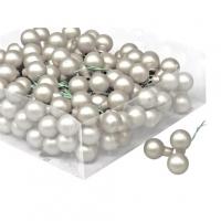 Gömb betűzős üveg 2cm ezüst matt 6db