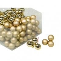 Gömb betűzős üveg 2cm arany 3dbmatt 3dbfényes