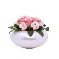 Asztali disz ufókaspóban 26x20cm rózsával