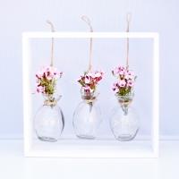 Rózsaszín wax virágos asztali dekoráció hangulatfénnyel 29x26x5 cm