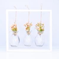 Barack színű wax virágos asztali dekoráció hangulatfénnyel 29x26x5 cm