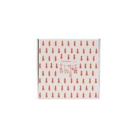 Fenyő mintás doboz piros színben 25x25x10cm