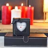 Valentin napi szív ajándék dobozban 9x9x3,5cm Szerelmemnek