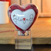 A szerelem fonala... 10 cm, szívtartóban