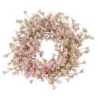 Virágkoszorú rózsaszín 25cm