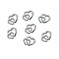 Dekorációs szív 1cm ezüst