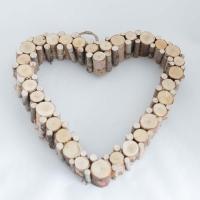 Faszeletes szív 28x24 cm