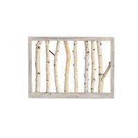 Nyírfa ágas falidekoráció hangulatfénnyel 71x50cm