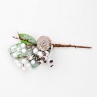 Fehér bogyós betűzős dísz 23cm