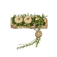 Nyárfa kaspós őszi asztali dísz 30x9cm