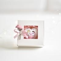 Esküvői ajándékszívek díszdobozban, egyedi felirattal