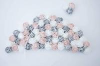 Szürke-fehér-púder rózsás szoknya a balerinás vászonképhez