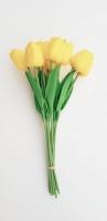 Tulipán 5 szál citromsárga 33cm