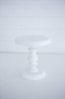 Kézműves, fa torta vagy muffin tartó, 13x16cm fehér