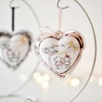 Szeretlek szív plexiben, állvánnyal -rózsaszín