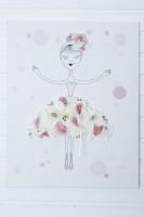 Hortenziás balerinás vászonkép 50x36x3cm