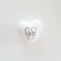 Babaváró ajándék szív 6x6x3.5cm fiú