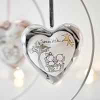 Szeretlek szív plexiben, állvánnyal -szürke