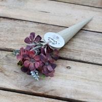 Fémtölcsérbe bújtatott mezei virág 27cm