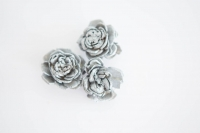 Polifoam rózsa 3db ezüst