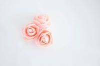 Polifoam rózsa 3db rózsaszín