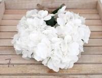 Hófehér élethű hortenzia 50 cm