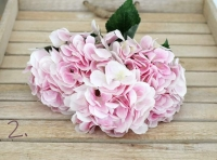 Rózsaszín élethű hortenzia 50 cm