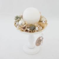 Tortatálas asztali dísz gömb gyertyával 14,5x24cm