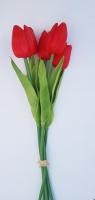 Tulipán 5 szálas piros 30cm