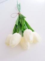 Tulipán csokor 5 szálas krém 33 cm