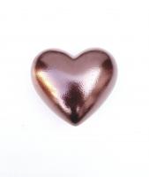 Metál rosegold dundi szív