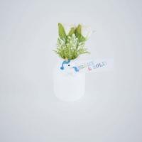 Unikornisos kisüveg selyem rózsával 7cm Irány a suli! fehér