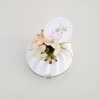 Kuglóf virággal 6,5cm krém