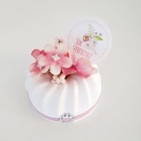 Kuglóf virággal 6,5cm rózsaszín