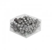 Gömb betűzös üveg 2,5cm grafit szürke 3db matt 3db fényes