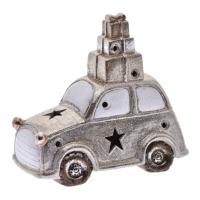 Autó dobozzal glitteres, kerámia 22x11x20cm arany
